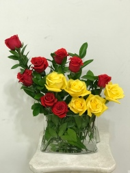 6.) Red and Yellow Roses. $85.00