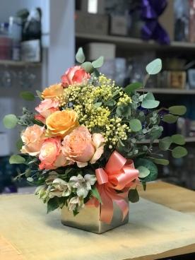 9.) Orange Birthday Arrangement $50.00